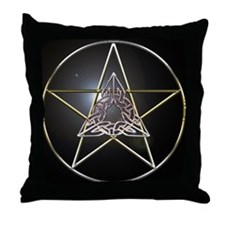 Pentagram & Celtic Knot Throw Pillow