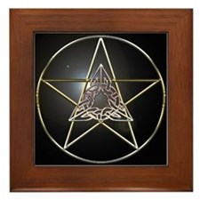 Pentagram & Celtic Knot Framed Tile