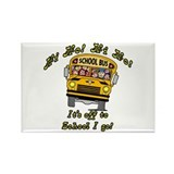 Hi Ho School Bus Rectangle Magnet