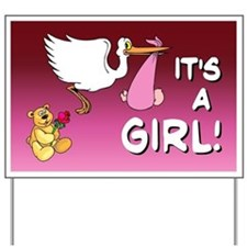 It's a Girl (stork) Yard Sign