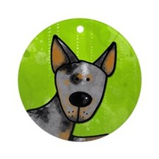 cow whisperer blue heeler Ornament (Round)