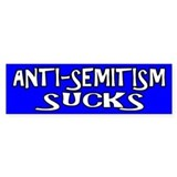 Anti-Semitism Sucks - Bumper Car Sticker