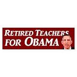 Retired Teachers for Obama 2012 bumpersticker
