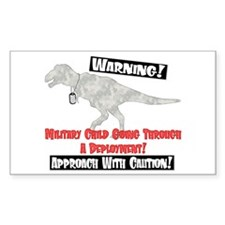 Military Child Dino Rectangle Decal