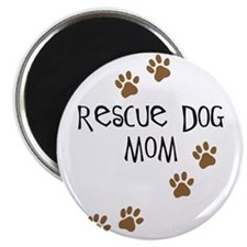 "Rescue Dog Mom 2.25"" Magnet (10 pack)"
