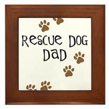 Rescue Dog Dad Framed Tile