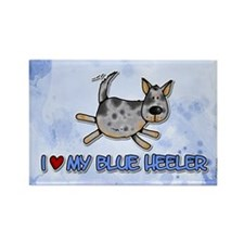 i love my blue heeler Rectangle Magnet