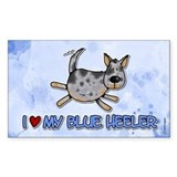 i love my blue heeler Rectangle Decal