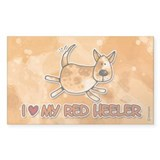 i love my red heeler Rectangle Decal
