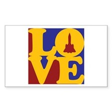 Aerospace Engineering Love Rectangle Sticker 50 p