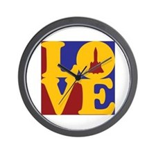 Aerospace Engineering Love Wall Clock