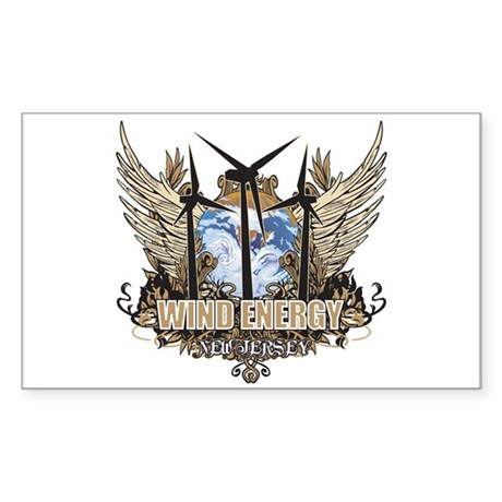 New Jersey Wind Energy Rectangle Sticker