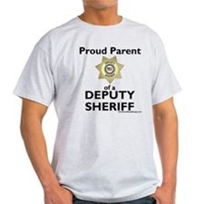 Parent of a Deputy Sheriff Gray T-Shirt