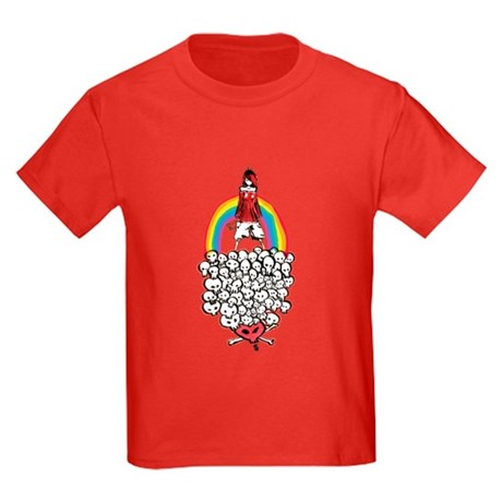 Rainbow Girl Kids Dark T-Shirt