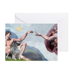 Creation/ Keeshond Greeting Card