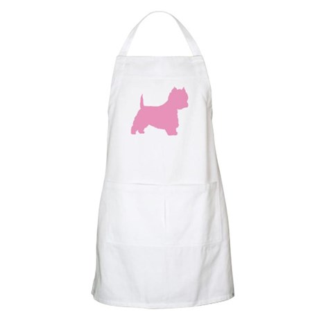 Pink Westie Dog BBQ Apron