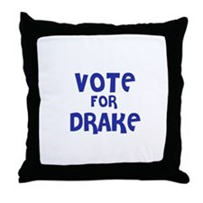 Vote for Drake Throw Pillow