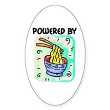 Powered by Noodles Oval Decal
