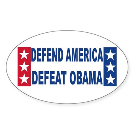 Anti obama Oval Sticker (50 pk)