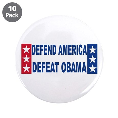"Anti obama 3.5"" Button (10 pack)"