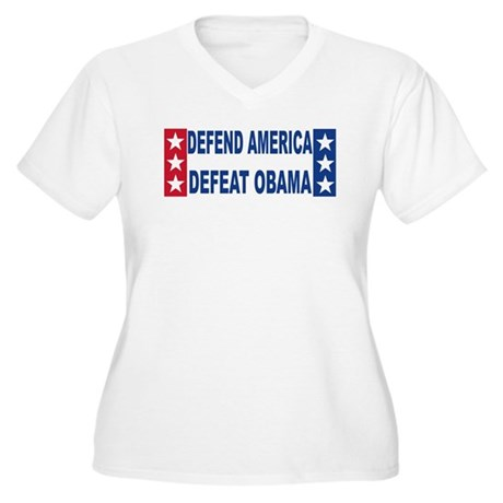 Anti obama Women's Plus Size V-Neck T-Shirt