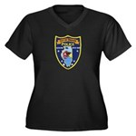 Oregon Illinois Police Women's Plus Size V-Neck Da