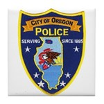 Oregon Illinois Police Tile Coaster