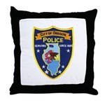 Oregon Illinois Police Throw Pillow