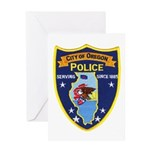 Oregon Illinois Police Greeting Card