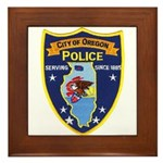 Oregon Illinois Police Framed Tile