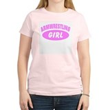Armwrestling Girl Sports T-Shirt