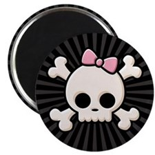 Cute Skull Girl Magnet