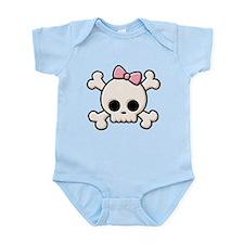 Cute Skull Girl Infant Bodysuit