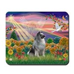 Autumn Angel/Keeshond Mousepad