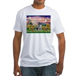 Autumn Angel/Keeshond Fitted T-Shirt