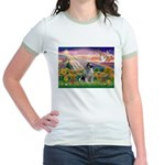 Autumn Angel/Keeshond Jr. Ringer T-Shirt