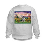 Autumn Angel/Keeshond Kids Sweatshirt