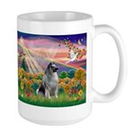 Autumn Angel/Keeshond Large Mug