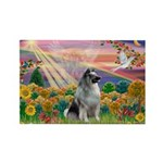 Autumn Angel/Keeshond Rectangle Magnet