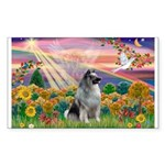 Autumn Angel/Keeshond Rectangle Sticker