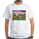 Autumn Angel/Keeshond White T-Shirt