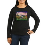 Autumn Angel/Keeshond Women's Long Sleeve Dark T-S
