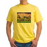 Autumn Angel/Keeshond Yellow T-Shirt