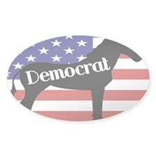 Democrat - Donkey Oval Sticker (50 pk)