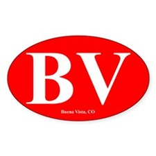 BV Buena Vista, CO Oval Sticker (50 pk)