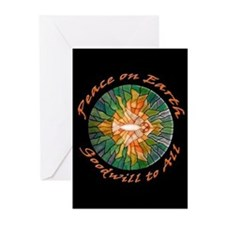 Gorgeous Stained Glass PEACE Holiday Cards