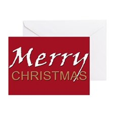 Deep Red Merry Christmas Pack of 10 with Envelopes