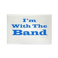 I'm With the Band - Blue/White Rectangle Magnet