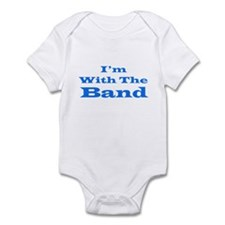 I'm With the Band - Blue/White Infant Bodysuit