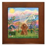 Cloud Angel and a brown miniature Poodle #10 Frame